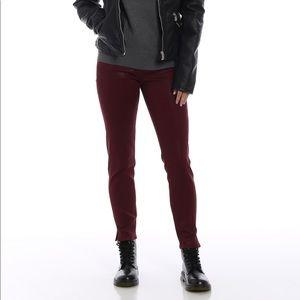 J Brand Alana coated cotton skinny crop jeans NWT